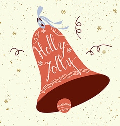 Holly Jolly card vector image vector image