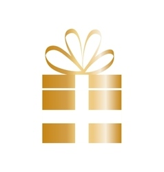 Isolated gift box vector image
