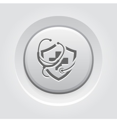 Medical insurance icon grey button design vector