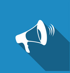 megaphone icon isolated with long shadow vector image