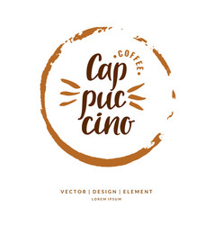 modern hand drawn lettering label for coffee drink vector image vector image
