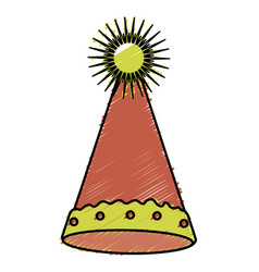 party hat isolated icon vector image