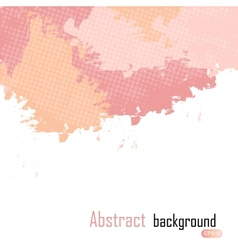 Pink abstract paint splashes background wit vector image