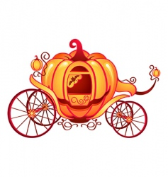 pumpkin carriage vector image vector image