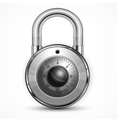 Round padlock on white vector image