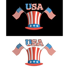 Set for elections in America Uncle Sam hat vector image