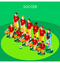 Soccer team 2016 summer games 3d isometric vector