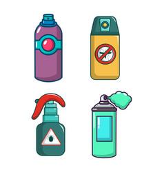 spray icon set cartoon style vector image