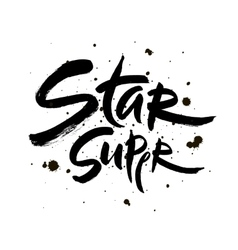 Super star lettering Hand vector image vector image