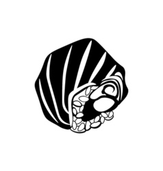 Sushi icon in black monochrome style isolated on vector image vector image
