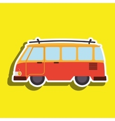 van tourist design vector image