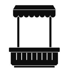 Window with a visor icon simple style vector