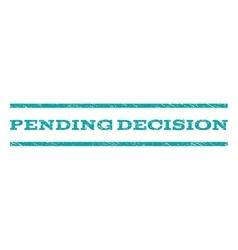 Pending decision watermark stamp vector