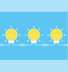 Ideas icon link together vector