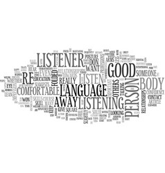 What does your body language tell text word cloud vector