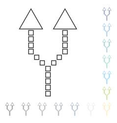 Divide arrow up icon vector