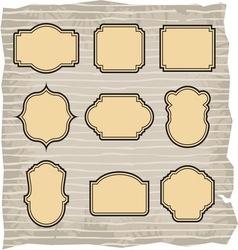 blank label set vector image