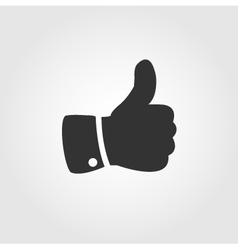 Thumb up icon flat design vector