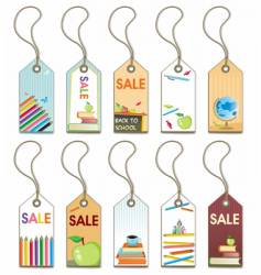 Back to school tags set vector