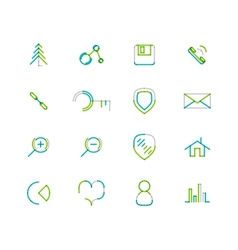 Set of thin line web icons vector