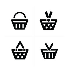 4 design shopping cart icon set vector