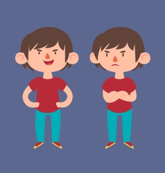 Cute boy in different poses vector