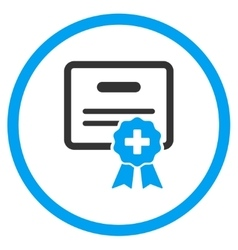 Medical certification rounded icon vector