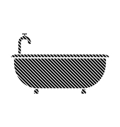 Bathtub sign on white vector