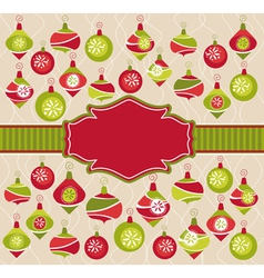 abstract christmas lovely cute frame vector image