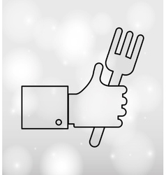 hand like and elements design vector image