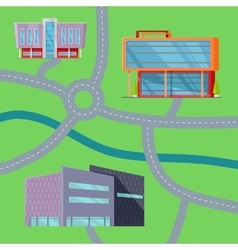 Shopping center concept map vector