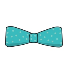Bowtie fashion male icon vector