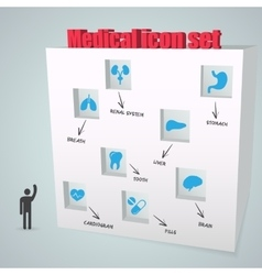Abstract creative concept icon medical set vector