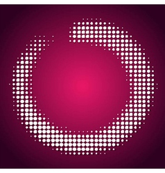 Abstract pink-white halftone background vector