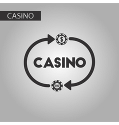 black and white style casino chips vector image