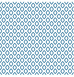 blue line rhombus shapes seamless pattern vector image vector image