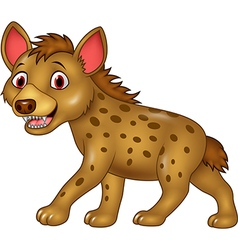 Cartoon funny hyena vector
