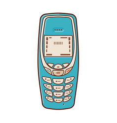 Classic mobile phones popular vintage cell phone vector