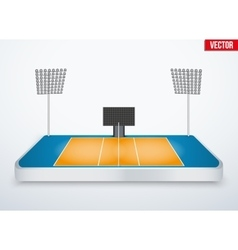 Concept of miniature tabletop volleyball arena vector image vector image