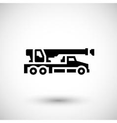 Crane truck icon vector image