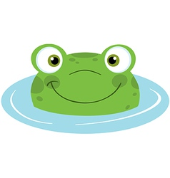 Cute frogs head vector image vector image