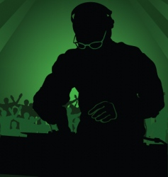 dj in work vector image