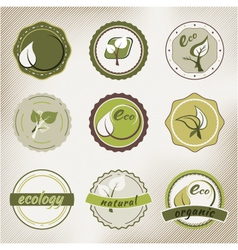 Eco badges vector