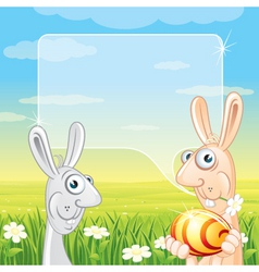 fun easter card vector image vector image