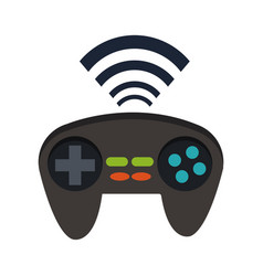 Gamepad icon joystick for game console wifi signal vector
