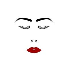 Girl face on white vector image
