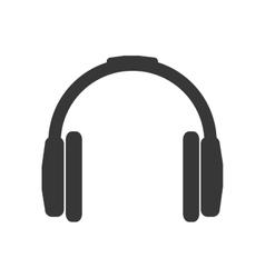 Headphone silhouette technology icon vector