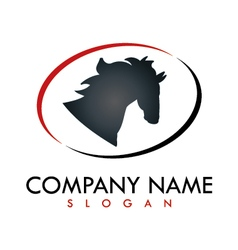 horse business logo vector image