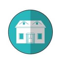 House facade loft circle vector