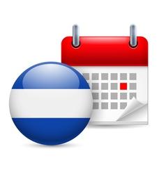 Icon of national day in el salvador vector